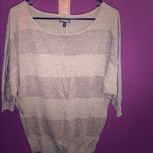 3/4 length striped blouse
